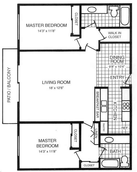 dual master bedroom floor plans san carlos dual master suite floorplans