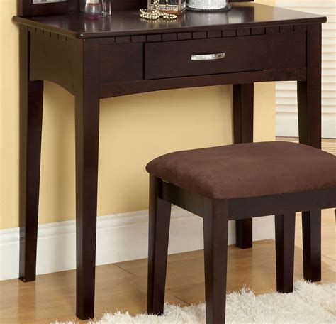 Espresso Vanity Table Potterville Espresso Vanity Table From Furniture Of America Cm Dk6490exp Coleman Furniture
