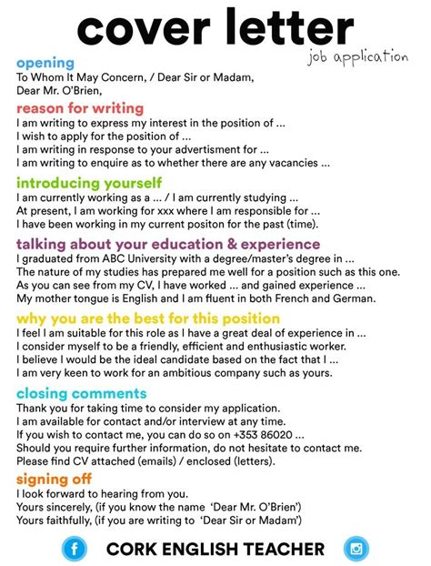 tips for a cover letter tips for writing a cover letter for a letter of