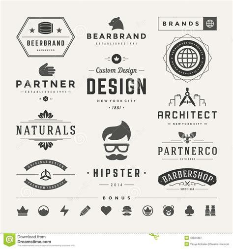 hairdresser retro design elements vector retro vintage insignias or logotypes set vector stock