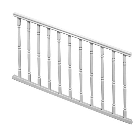 home depot banister rails veranda williamsburg 6 ft x 36 in white stair rail kit