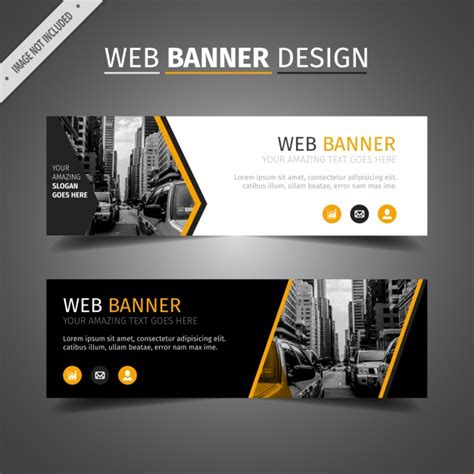 design banner website black web banner design vector free download