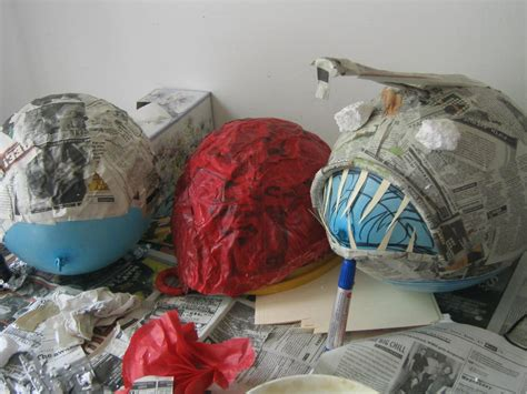 How To Make A Mask Without Paper Mache - paper mache masks with balloons images