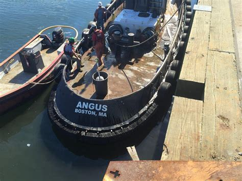 tugboat deck tugboat deck coating removal