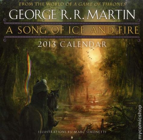 song of ice and fire 2012 calendar andre george r r martin a song of fire and ice 2013 calendar