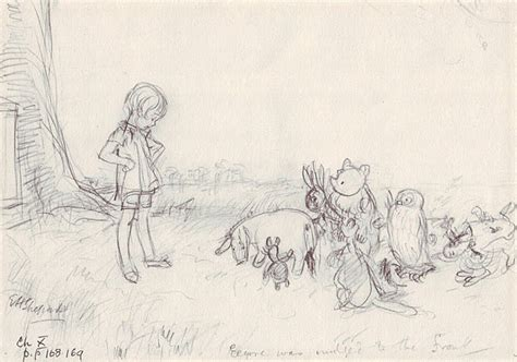 E H Shepard Sketches by Original By E H Shepherd Disney