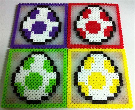Egg Mario Bros details about mario bros yoshi egg coaster set of 4 perler