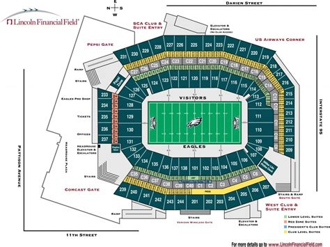 seating capacity of lincoln financial field lincoln financial field philadelphia pa