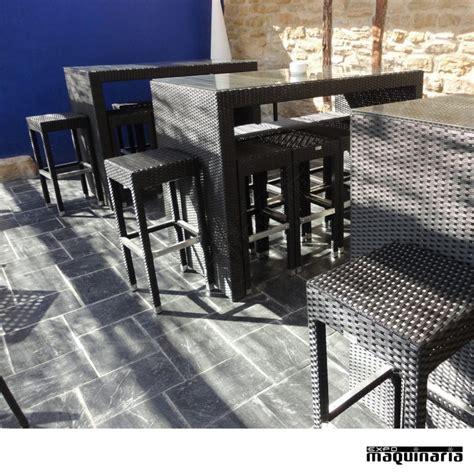 mesas y taburetes conjunto de mesa alta 8 taburetes de rattan