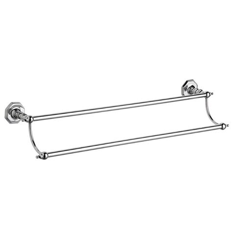 chrome bathroom towel rails victorian chrome double towel rail at victorian plumbing uk