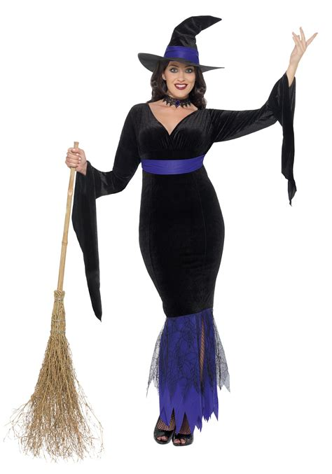 halloween costumes women s plus size glamorous witch costume