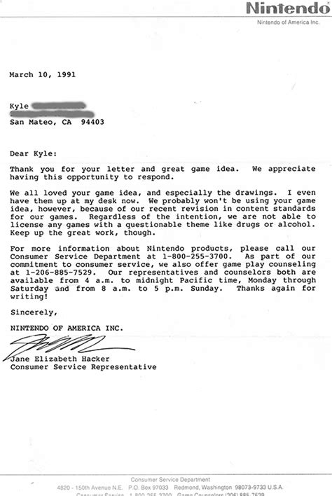 Rejection Letter Of The Year this mega rejection letter from 1991 tells the story of a generation s of nintendo