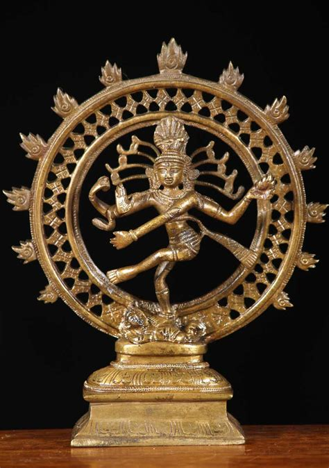 sold brass small nataraja statue  bs hindu