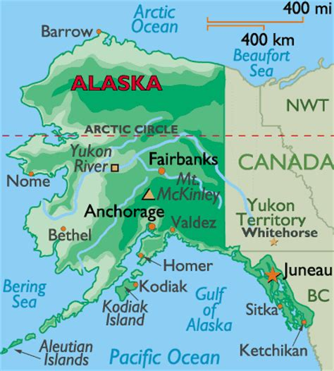 map us canada alaska maps of alaska and canada
