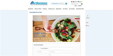 Sweepstakes For Texas Residents Only - albertsons earthbound farms free salad for a year virtual giveaway sweepstakes at