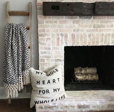 mantel brick fireplace reclaimed brick whitewashed chicago brick fireplace and reclaimed wood