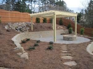 using retaining wall blocks pit pin by viningstone on patios