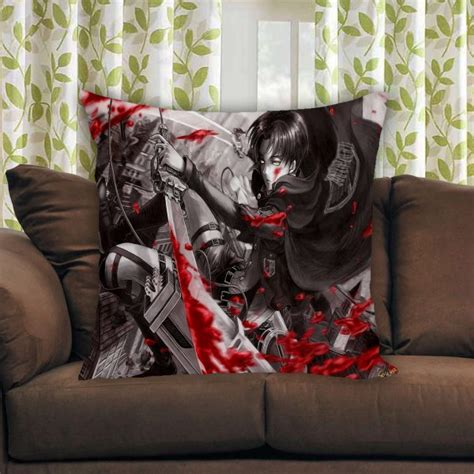 Attack On Titan Pillow by Attack On Titan Pillow Cases Mpcteehouse