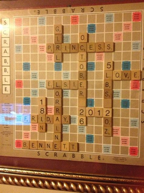 scrabble baby announcement personalized scrabble board wall framed picture home