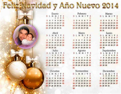 calendario navide 241 o 2014 plantillas para photoshop 2017