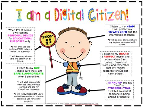 promoting technology and education turbo charging the school buses on the information highway books this poster to bring up digital citizenship with my