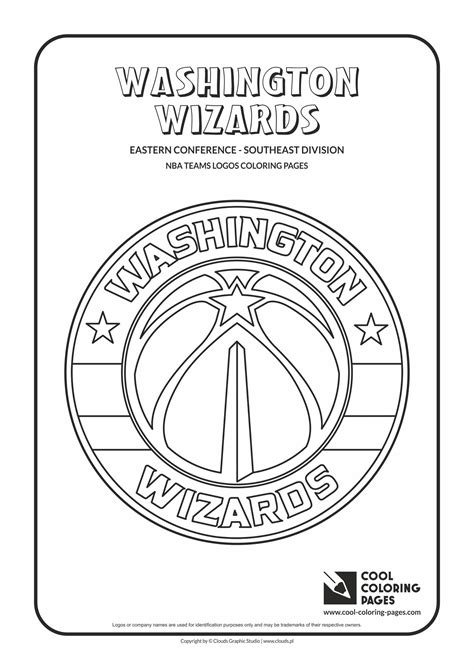 nba wizards coloring pages cool coloring pages nba basketball clubs logos easter