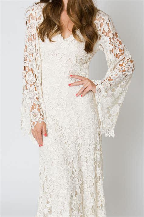 Home Design Story Add Me Racquel Bell Sleeve Lace Maxi Dress Dreamers And Lovers
