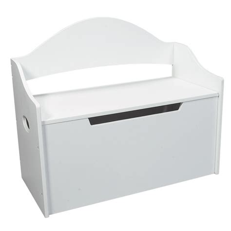 white wooden toy box bench dreamfurniture com 1414w toy chest w bench white