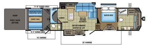 5th wheel toy hauler floor plans jayco fifth wheel toy hauler floor plans gurus floor