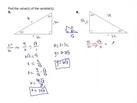 Special Right Triangles Worksheet 2 Answers