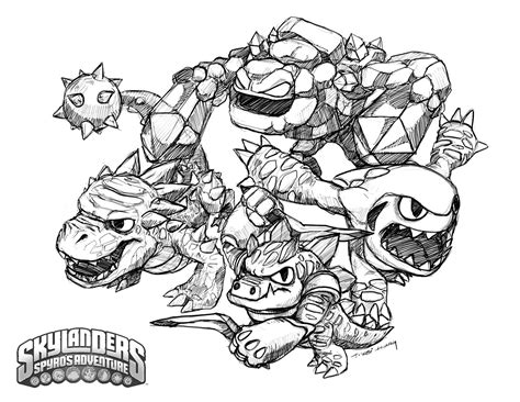 doodle draw crabfu skylanders speed drawing coloring pages