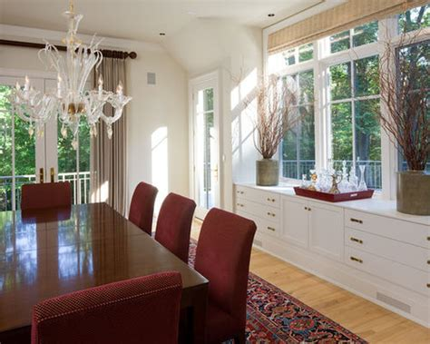 Dining Room Buffet In Front Of Window Built In Buffet Houzz