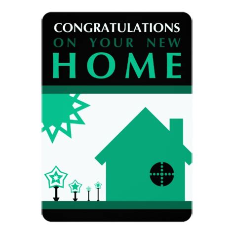 congratulations on your new home green shapes card zazzle