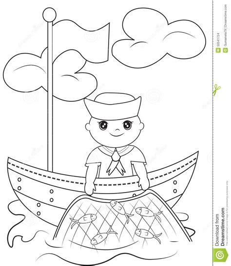capitanes de barcos para colorear sailor coloring page stock illustration image 50541724
