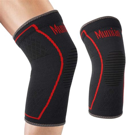 Supports Aolikes 1pcs Wristbands Bandage Safety Knee Pads mumian elastic sports leg knee support brace wrap protector leg compression safety pad sleeve