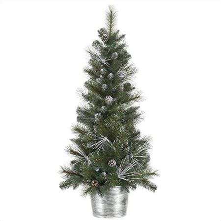 northlight 4 foot berrywood pine tree northlight 4 ft flocked and glittered mixed pine potted artificial tree unlit