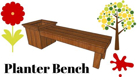 planter bench diy diy planter bench plans youtube