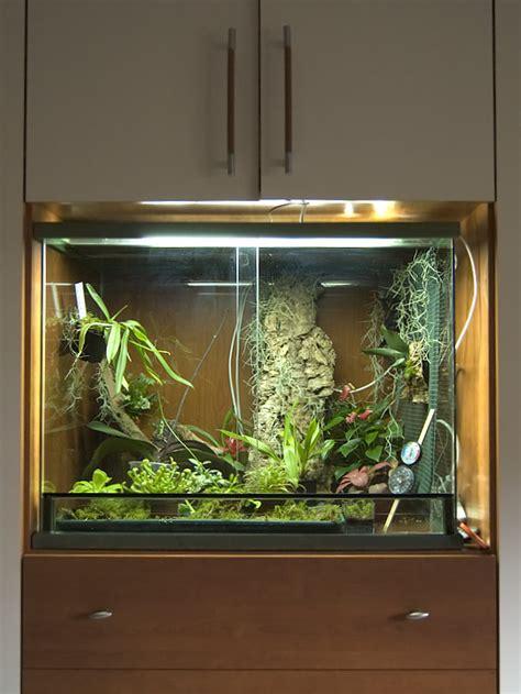 mobile per acquario ikea terrario con orchidee piante carnivore e altre piante