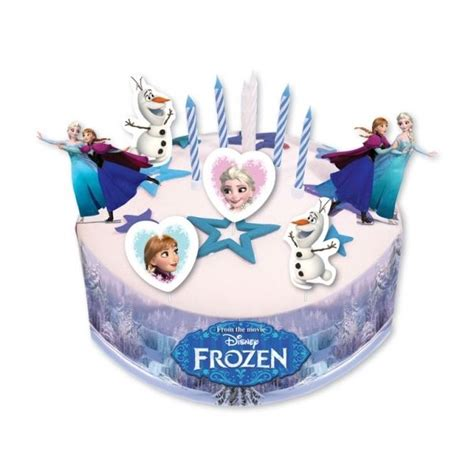 disney frozen cake decorating set with picks candles and