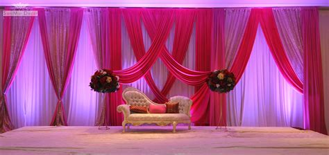 Simple Flower Arrangements by Wedding Ideas Pink And Purple Color Wedding Stage Decor
