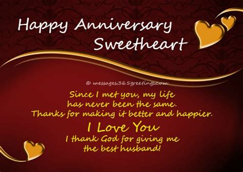 Wedding Anniversary Hubby by Anniversary Wishes For Husband 365greetings