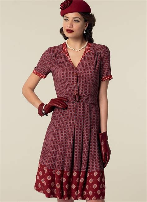 dress pattern notches m7433 misses inverted notch collar shirtdresses and belt