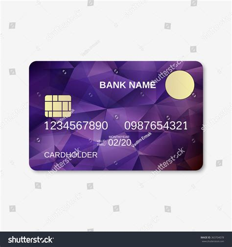 Credit Card Layout Template Bank Card Credit Card Discount Card Stock Vector 363704078