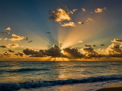 miami beach florida beautiful sunrise morning sea ocean
