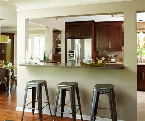 Small U Shaped Kitchen With Breakfast Bar - small kitchen open space makeover