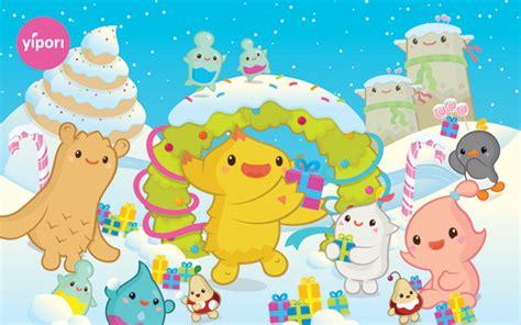 christmas wallpaper kawaii yipori sweet snow kawaii christmas wallpaper