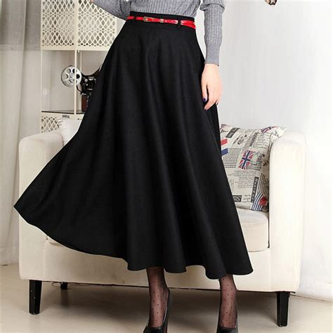 7 Favorite Winter Skirts by Autumn Winter Wool Warm Maxi Skirt 7xl Plus
