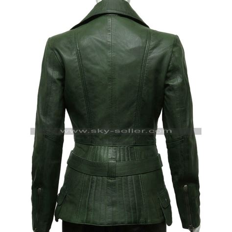 motorcycle style leather jacket green womens biker style leather jacket