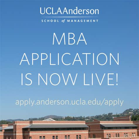 Applying To Ucla Mba by Ucla School Of Management