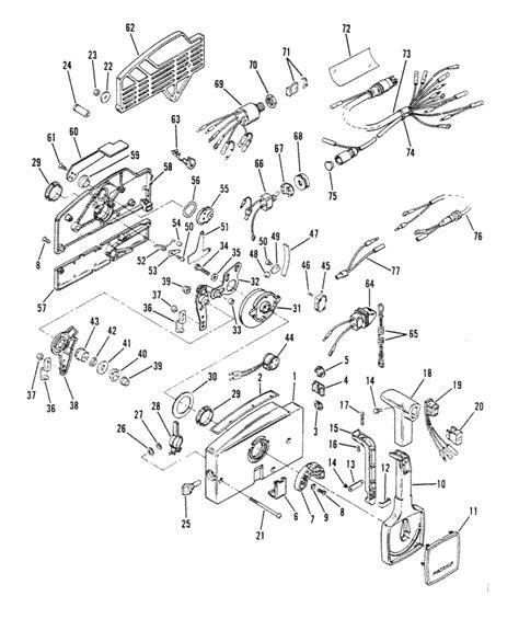 mercury outboard controls diagram mercury marine remote controls components commander 2000
